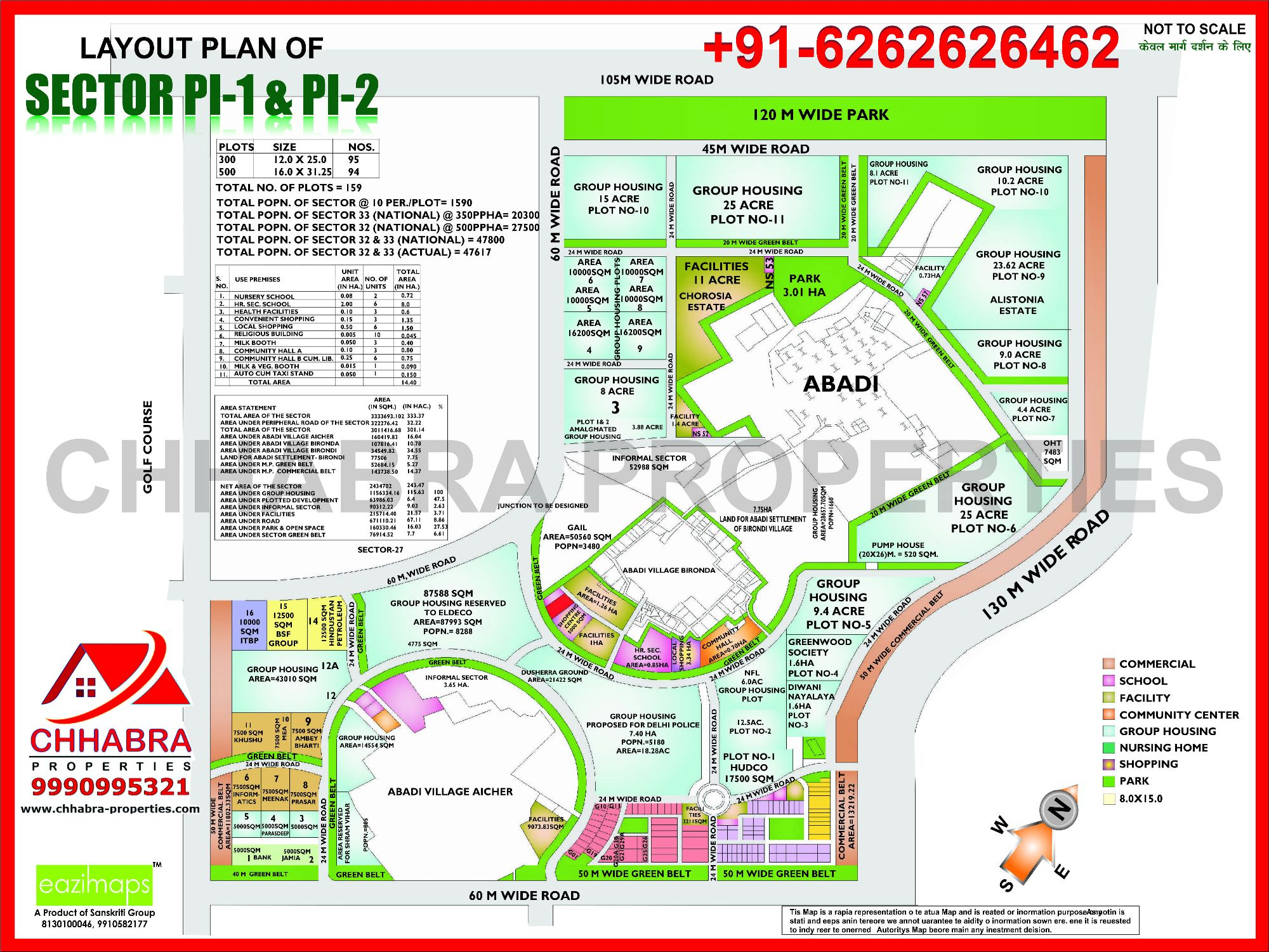 Layout Plan For Sector Pi